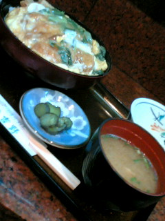 割烹吉野のかつ丼定食