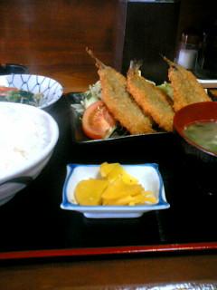 お食事処「たじま」のイワシフライ定食