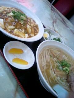 中国料理「眠龍」の麻婆丼セット