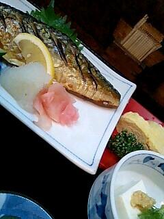 割烹吉野の焼き魚定食