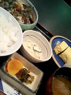 北海道料理「雪国」の出巻きと冷しうどんのセット