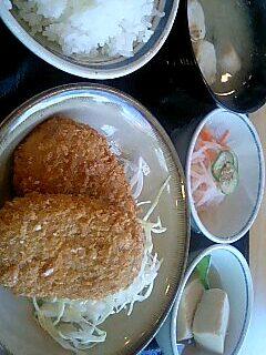 三光亭の自作定食