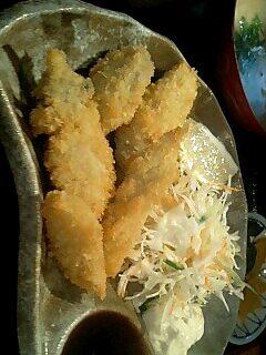 居酒屋「磯舟」のカキフライ定食