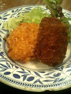 北海道料理「雪国」のミンチカツと十勝コロッケ定食