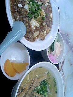 中華料理「眠龍」の麻婆丼セット