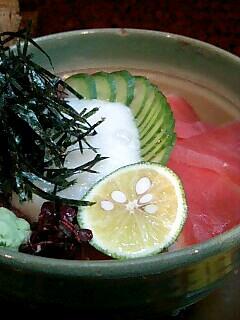割烹「吉野」の鉄火丼定食