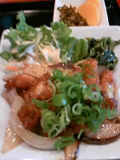 やきとり「司」の鶏の和風甘酢定食