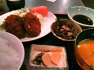 北海道料理「雪国」のミンチカツ定食