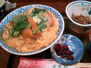 割烹「吉野」のかつ丼定食