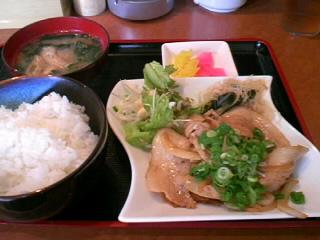 やきとり「司」の豚肉のしょうが炒め定食