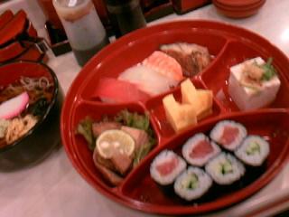 回転寿司「しゅっぽっぽ」の吉野弁当