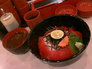 回転寿司「しゅっぽっぽ」の鉄火丼