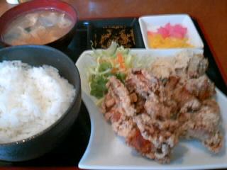 やきとり「司」の鶏の唐揚げ定食