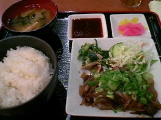 やきとり「司」の牛ハラミ焼肉炒め定食