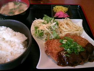 やきとり「司」の味噌かつ定食
