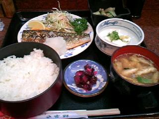 割烹「吉野」の焼魚定食