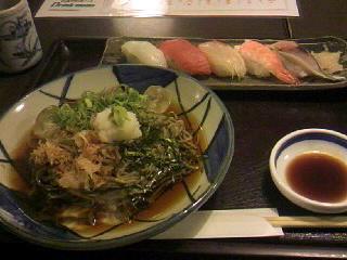くつろぎの里「庄や」のお寿司盛合せ定食