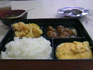 中華料理「新天龍」のサービス定食