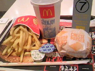 McDonald'sのハンバーガー