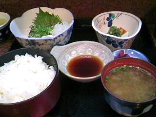 割烹吉野の鰹のたたき定食