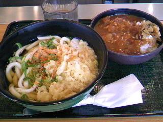 麺屋のミニカレーセット(うどん)