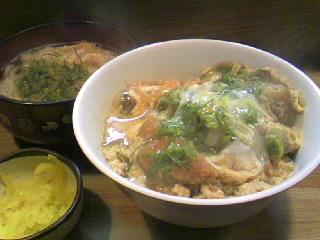 麺処「天つる」のかつ丼セット