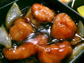 新天龍の酢豚定食
