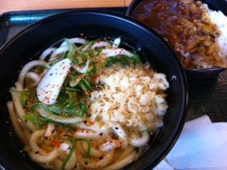 麺屋のミニカレー定食(うどん)