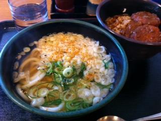 本場さぬきうどん「げんき家」のカツカレー丼セット