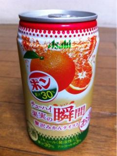 Asahi チューハイ 果実の瞬間 贅沢みかんテイスト