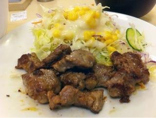松屋の中落ちカルビステーキ定食