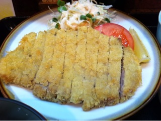 割烹「吉野」のとんかつ定食
