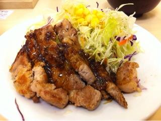 松屋の豚テキ定食