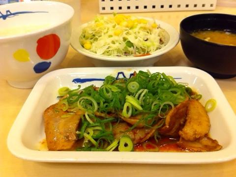 松屋の旨辛豚カルビ焼き定食