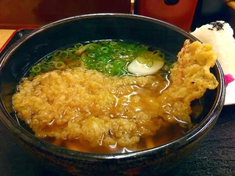 道楽うどんの天ぷらうどん