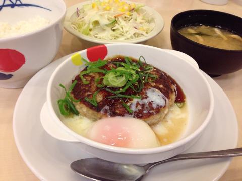 松屋の鶏つくねハンバーグ定食