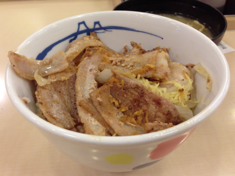 松屋の生姜焼き丼