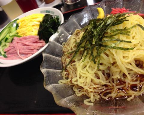 日高屋の黒酢しょうゆ冷し麺
