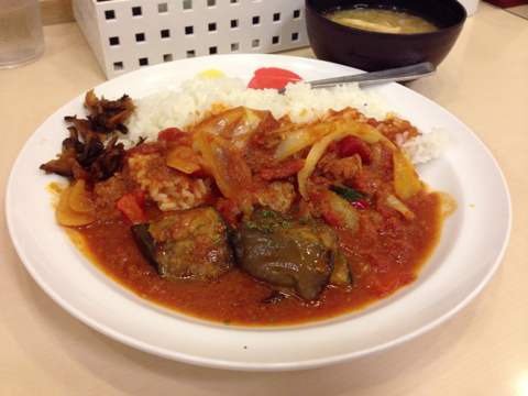 松屋の夏野菜のトマトカレー