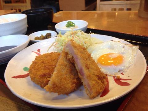 宮本むなしの昭和のハムカツ定食