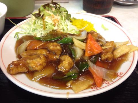 味悟空の酢豚定食