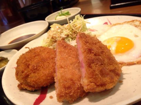 めしや 宮本むなし の昭和のハムカツ定食