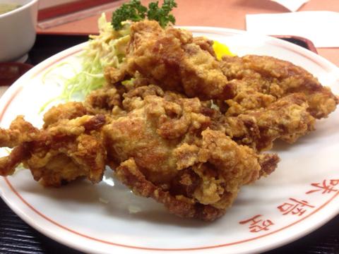 中華料理 味悟空のから揚げ定食