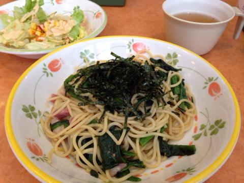 サイゼリヤのほうれん草のスパゲティ