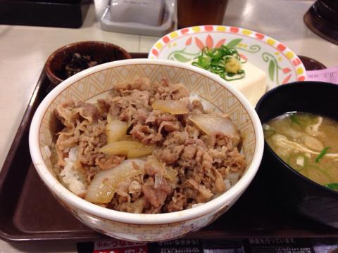 すき家の牛丼 健康セット