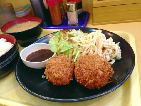 カレーハウス 五番館のダブルコロッケ定食