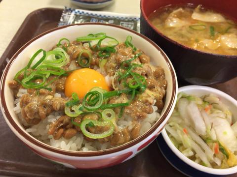 すき家の豚汁納豆定食