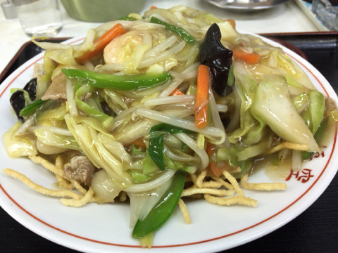 中華料理 味悟空のフライ麺