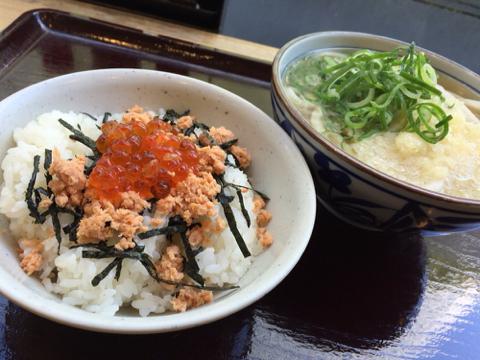 楽釜製麺所のかけうどんAセット