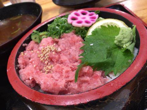 海鮮れすとらん 魚輝水産 新大阪店のねぎとろ丼